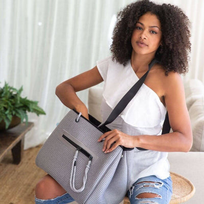Coco Grey Diaper Bag (Grey) | CHUCHKA
