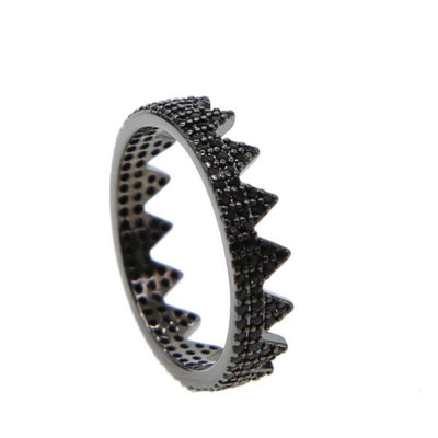 Crown Ring - Black (Sterling Silver) $59.00 | CHUCHKA