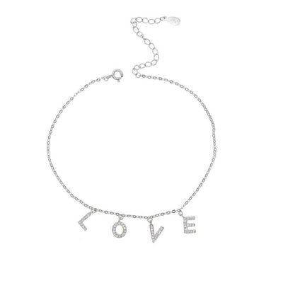 Love Anklet (Sterling Silver) $59.00 | CHUCHKA