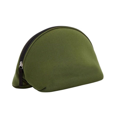 Khaki Neoprene Makeup Bag & Travel Pouch - Chuchka
