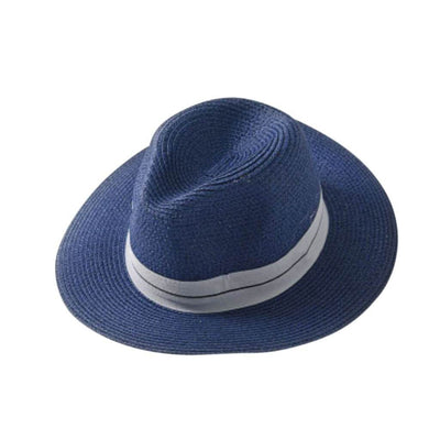 Ladies Panama Hat (Navy) $59.00 | CHUCHKA