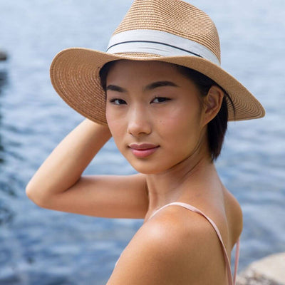 Ladies Panama Hat - Tan
