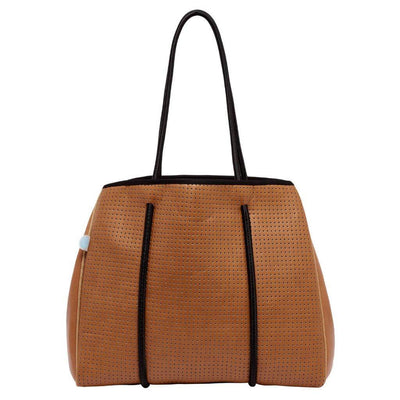 Lina Vegan Leather Mini Tote (Tan)