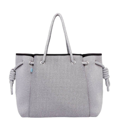 Porsha Grey Neoprene Bag (Large) - $109 | CHUCHKA