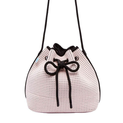 Sheri Pink Neoprene Bucket Bag | CHUCHKA
