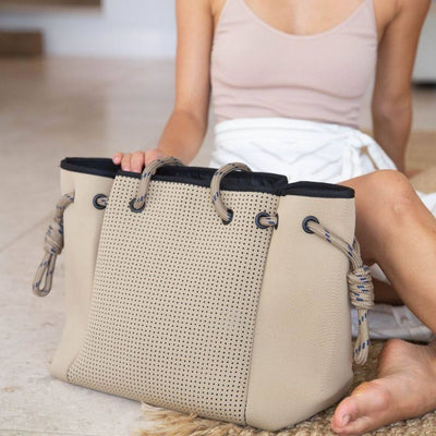Tamara Beige Neoprene Bag (Large) for beach, travel, gym, work and everyday - $119  CHUCHKA