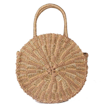 Tanya Tan Woven Tote (Tan / Gold)  - $89 USD | CHUCHKA