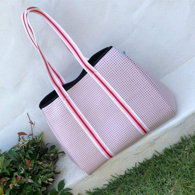 Tenny Pink Beach Sport Neoprene Tote Bag for beach, travel, gym and everyday - $119  CHUCHKA