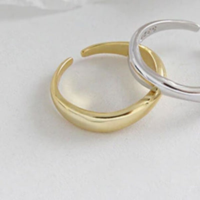 Smooth Ring Medium (Gold) - Chuchka Jewelry
