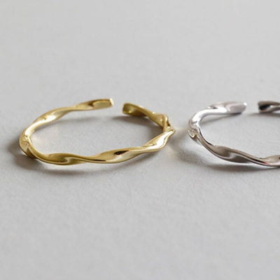 Smooth Twist Ring Fine (Gold) - Chuchka Jewelry