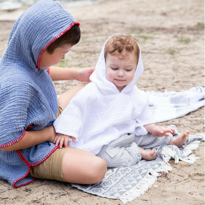 Kids Crinkle Hooded Poncho