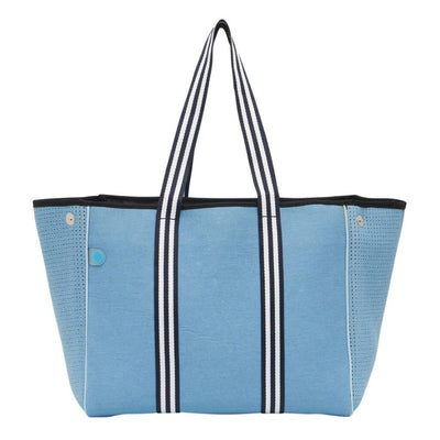 Ashley Light Denim Tote Bag - CHUCHKA