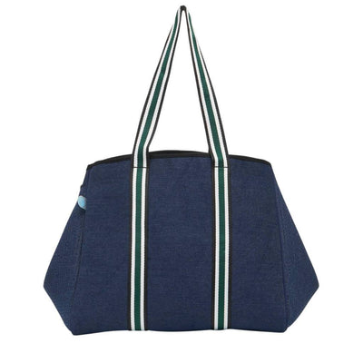 McKenzie Denim Tote Bag (Dark Denim) - CHUCHKA