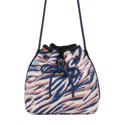 Nala Tiger Neoprene Bucket Bag with drawstring roping - CHUCHKA