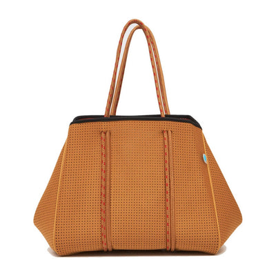 Savannah Neoprene Tote Bag (Mustard/Red) - $119 | CHUCHKA