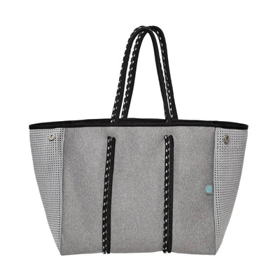 Granite Grey Neoprene Tote Bag (Double Strap) - CHUCHKA