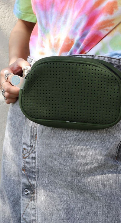 Alby Neoprene Bum Bag Fanny Pack (Khaki Green) for festival outings and everyday  $39.95 CHUCHKA