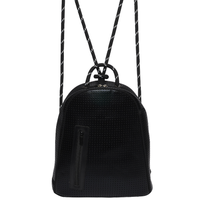 Anni Neoprene Backpack (Metallic Black)