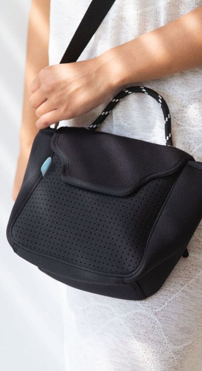 Bianca Neoprene Crossbody Bag (Black) $89 USD for festival outings and everyday CHUCHKA