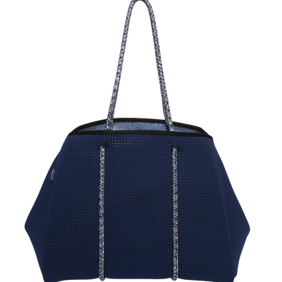 Bondi Beach Bag (Navy/Beach Print) - $119 | CHUCHKA
