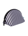Stripe Neoprene Cosmetic Pouch