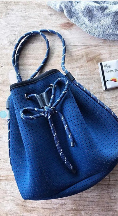 Delia Neoprene Bucket Bag (Navy) for festival outigs and everyday - $79 USD  CHUCHKA 2