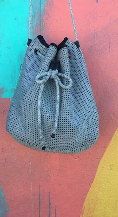 Jac Neoprene Bucket Bag (Light Grey) $79 USD for festival outings and everyday CHUCHKA