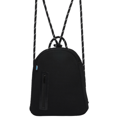 Lola chuchka neoprene backpack in black - front
