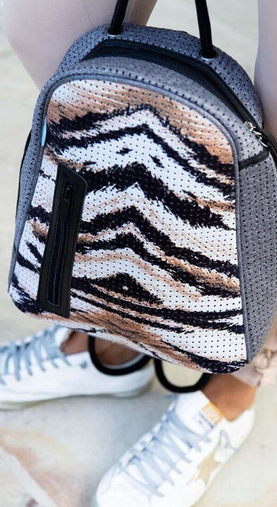 Portia Neoprene Backpack (Animal Print) for festival outings, summer hikes, sport, beach and everyday - CHUCHKA