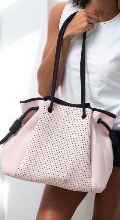 Ragen Pink Neoprene Bag (Large) for beach, travel, gym, work and everyday - $119  CHUCHKA