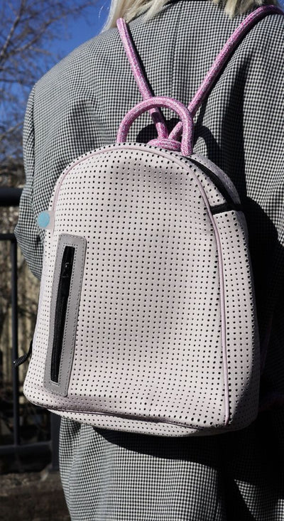 Ramona pink Neoprene Backpack perfect for travel, everday, hike, gym, beach, festival for teens and women on the go - CHUCHKA