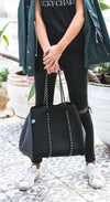 Syd Neoprene Tote Bag (Black Grey) for gym, beach, travel and everyday - $119  CHUCHKA