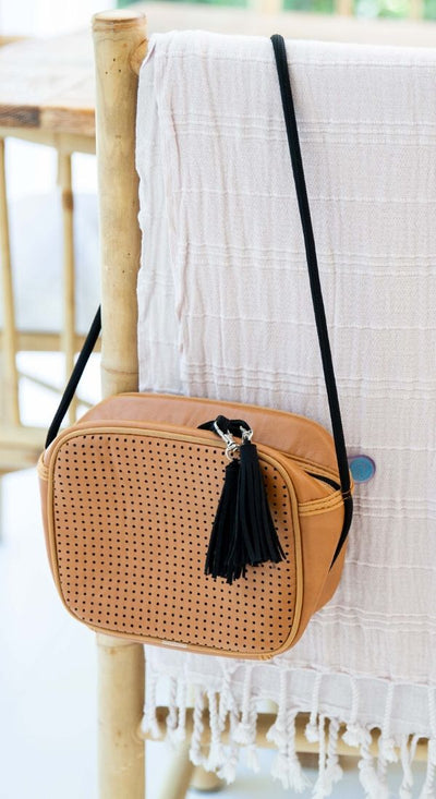 Tania Vegan Leather Crossbody Bag (Tan) $79 USD for festival outings and everyday CHUCHKA