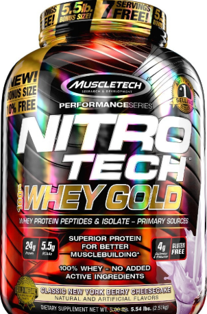 MT NITRO TECH 100% WHEY GOLD 5.5LB BERRY CHEESECAKE