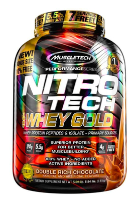 MT NITRO TECH 100% WHEY GOLD 5.5LB DOUBLE RICH CHOCOLATE