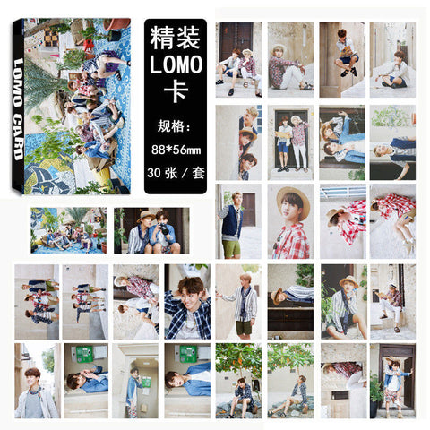 Youpop KPOP BTS Summer Package WINGS Bangtan Boys Album LOMO Cards K-POP Fashion Self Made Paper Photo Card HD Photocard LK425