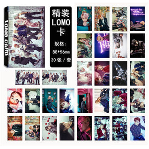 Youpop KPOP BTS WINGS J-HOPE JIN Album LOMO Cards K-POP New Fashion Self Made Paper Photo Card HD Photocard LK420