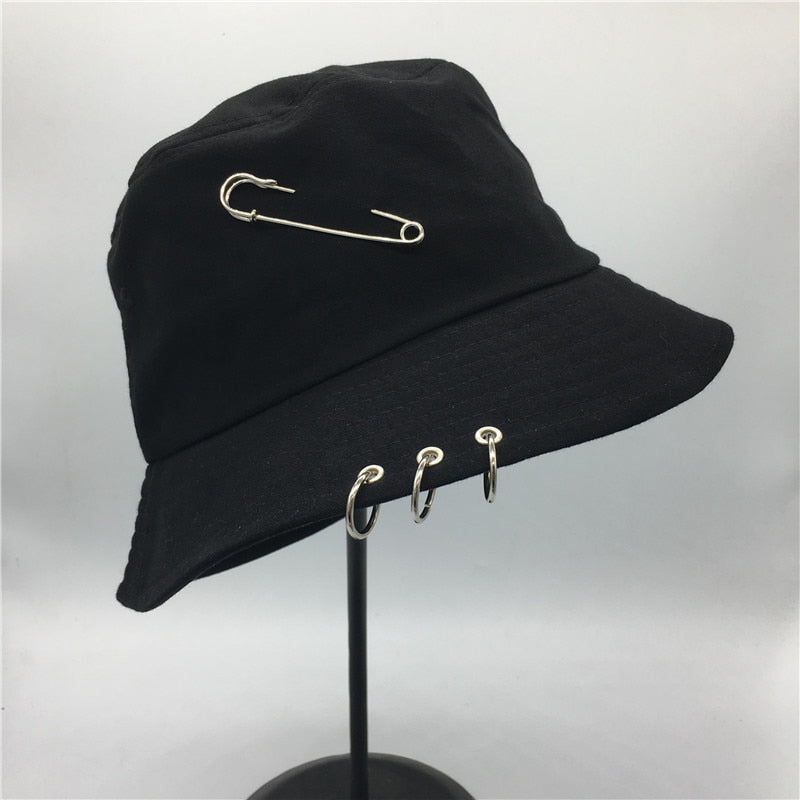 Hot selling 2017 BTS  Fashion K POP Iron Ring Bucket Hats popular style cap 100% handmade rings