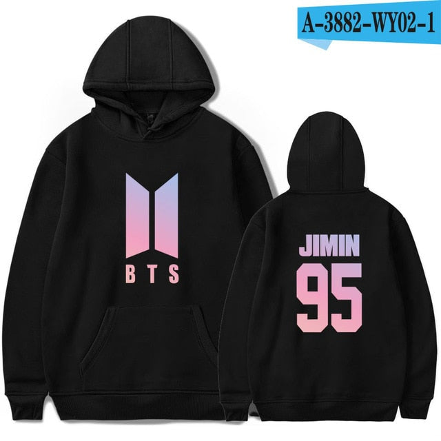 BTS Bangtan Boys Sweatshirt Women Hoodies Love Yourself Bts Print Sweatshirt Women Pullovers Kpop Korean Style Casual Pullovers