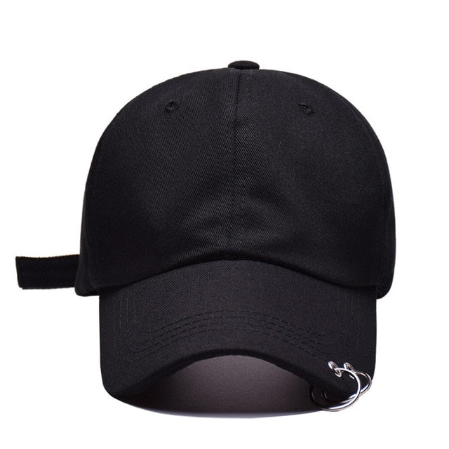 Hot selling 2018 BTS LIVE THE WINGS TOUR Fashion K POP Iron Ring Hats adjustable Baseball cap 100% handmade ring