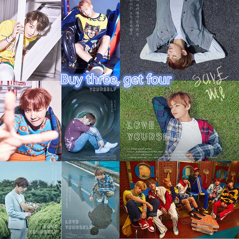 BTS Posters Love Yourself Kpop Music Wall Stickers High Definition Home Decoration Home Art
