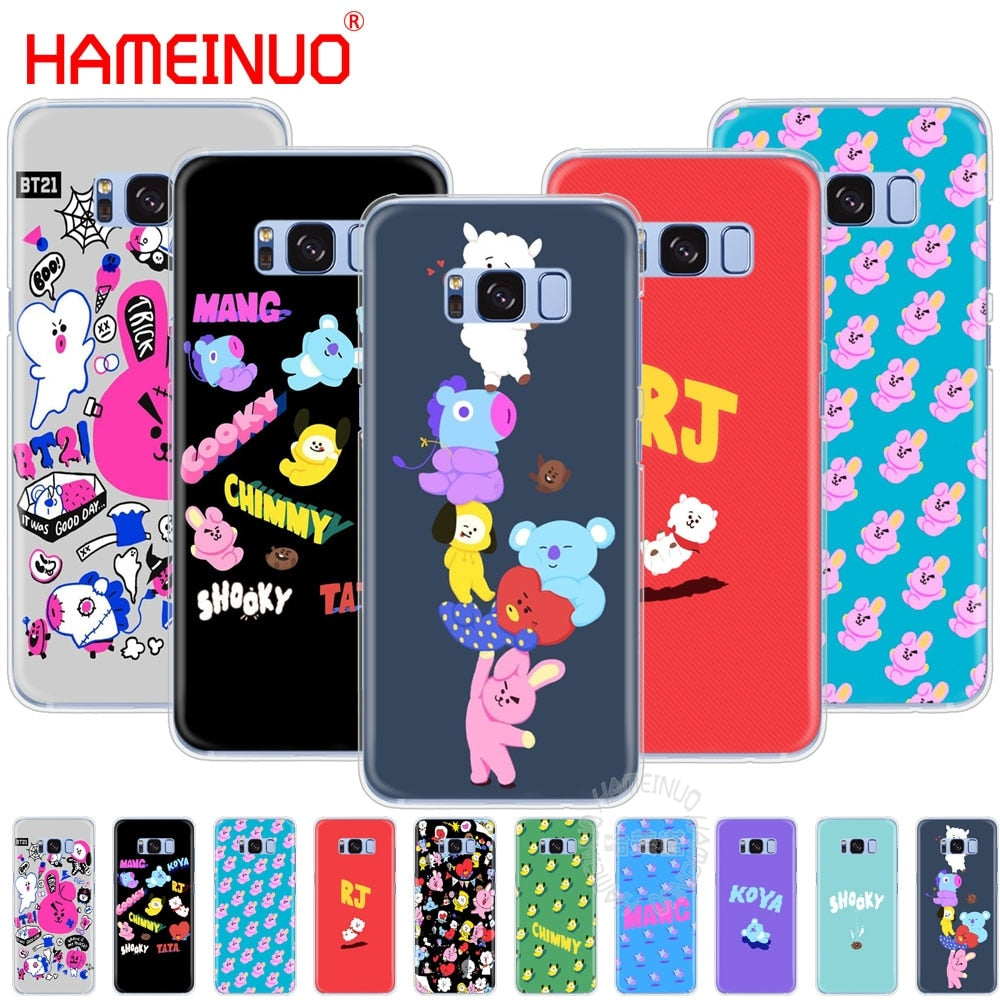 HAMEINUO BTS BT21 Bangtan Boys KOYA SHOOKY cell phone case cover for Samsung Galaxy S9 S7 edge PLUS S8 S6 S5 S4 S3 MINI