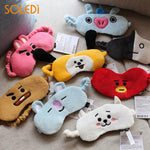 Eye Masks Sleep Mask BTS BT21 Plush Eyeshade Eye Care Kpop Fans Fashion Cute Office Good Sleep Breathable