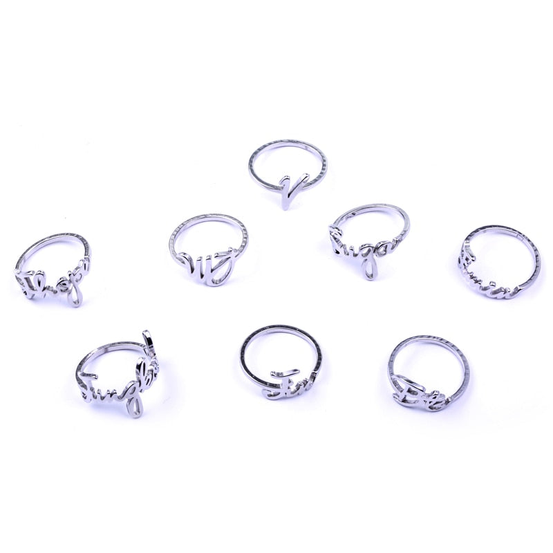 Youpop KPOP BTS Bangtan Boys SUGA V JUNGKOOK Name Album Ring Jewelry Rings Accessories For Men And Women Female Male Boy Girl