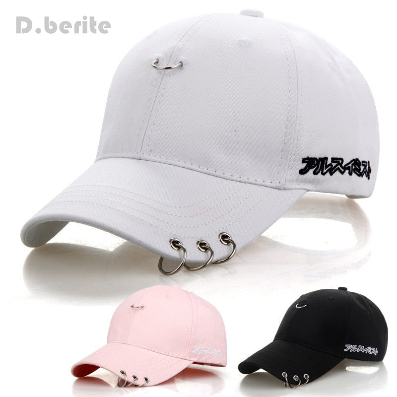 Mens Snapback Hats BTS Jimin Fashion K Pop Iron Ring Hats Adjustable Baseball Cap GPD8216