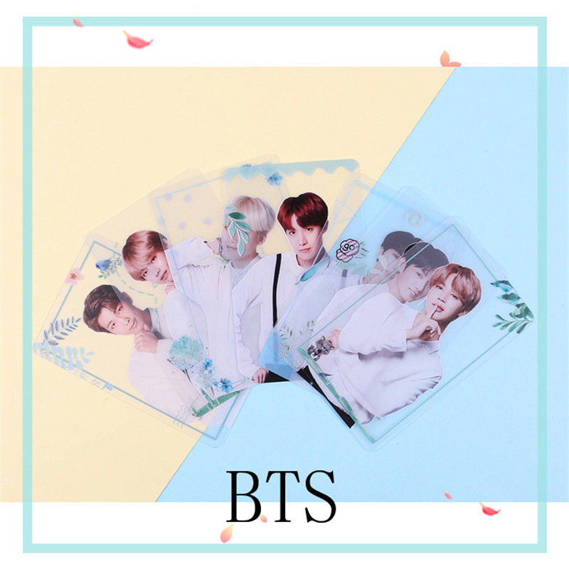 SGDOLL  Kpop BTS Transparent Cards TPU Bangtan Boys Suga Jimin Jungkook Photo 7pcs/set