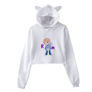 2018 BTS Love Yourself Bt21 K Pop Women Sweatshirts Bts Hoodies Pullover Harajuku Clothing long sleeve Crop tops Jimin Clothes