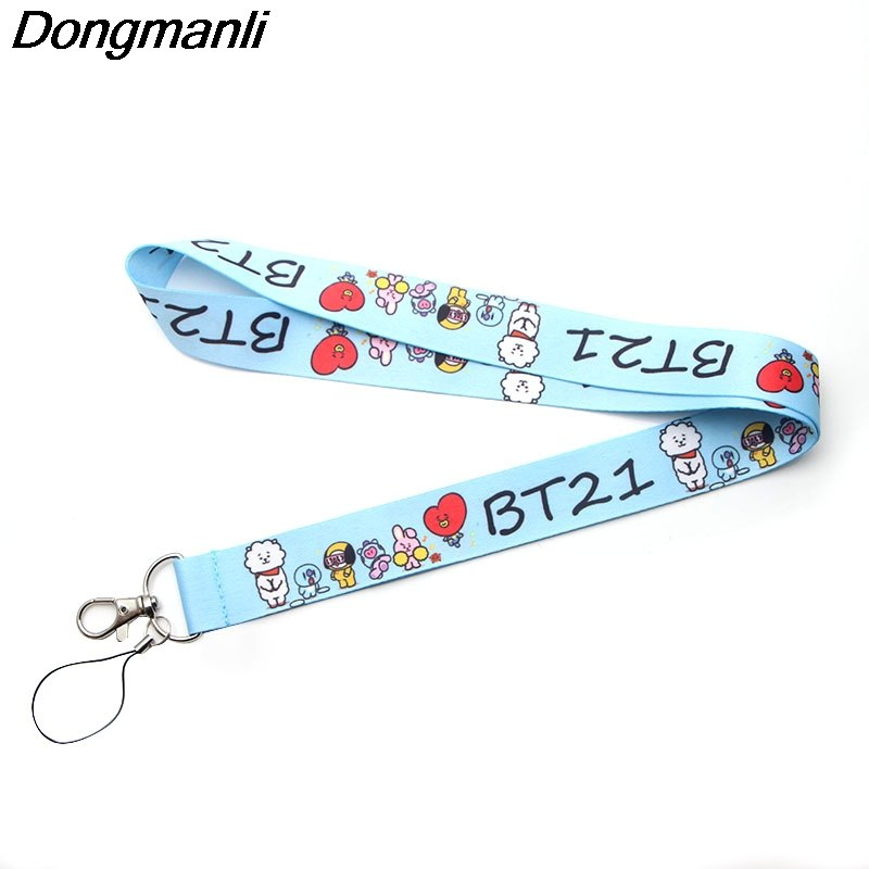 P2876 Dongmanli BTS Bangtan Boys Lanyards For keychain ID Card Pass Gym Mobile Phone USB Badge Holder kpop accessories