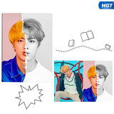 Kpop BTS Love Yourself Answer Notebook Album Cover Poster Note Book JIN V JIMIN SUGA Pop Star Diary Planner students Stationary