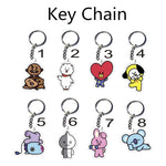 Kpop BTS   Bangtan Boys Album Keyring Keychain CHIMMY COOKY KOYA MANG RJ SHOOKY TATA Key Chain K-pop Key Ring Pendant LU101